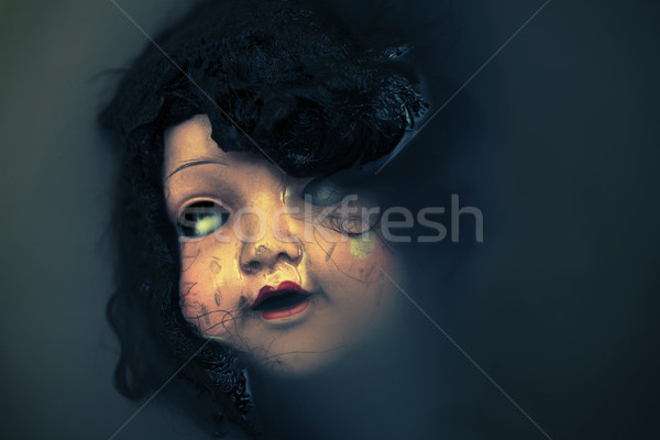 Creepy doll face in dark dirty water  Stock photo © sqback