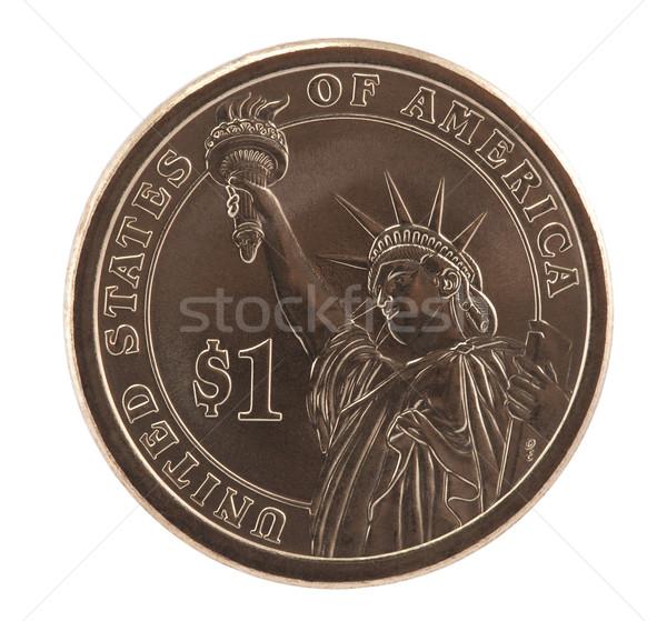 Stock fotó: Amerikai · egy · dollár · érme · vágási · körvonal · pénz