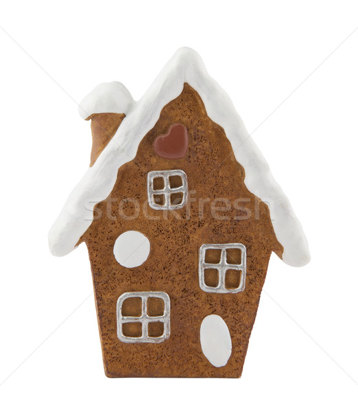 Gingerbread house with clipping path Stock photo © sqback