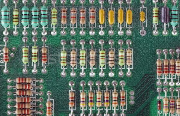 Circuito tecnologia industriali elettrica elettrici bordo Foto d'archivio © sqback