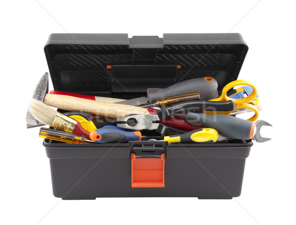 Open black toolbox with tools Stock photo © sqback