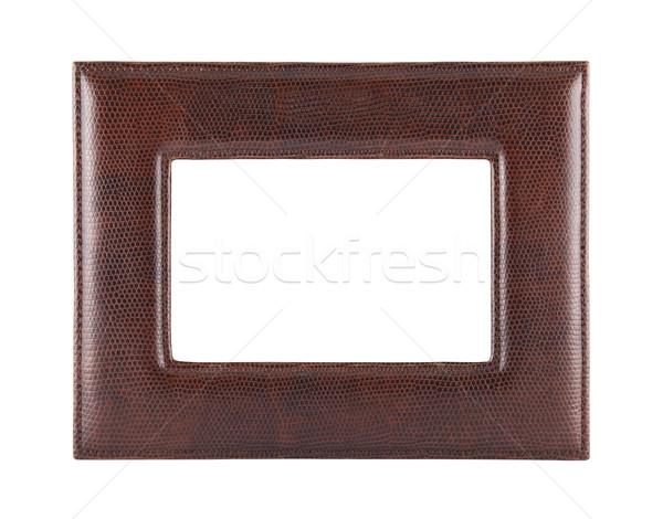 Pelle photo frame isolato bianco sfondo Foto d'archivio © sqback