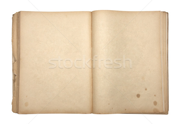 Abierto edad libro fondo vintage Foto stock © sqback