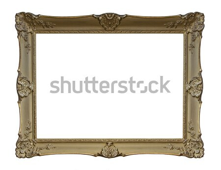 Antique picture frame with clipping path Stock photo © sqback