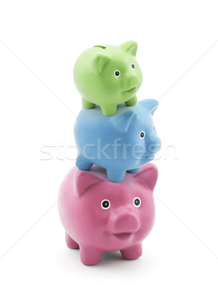 Stack of colorful piggy banks  Stock photo © sqback