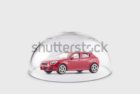 Modern white car protected under a glass dome  Stock photo © sqback