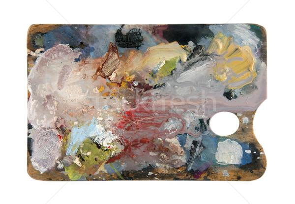 Paletine çoklu renkler yalıtılmış beyaz Stok fotoğraf © sqback