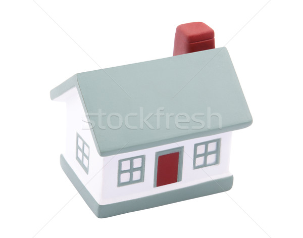 Pequeño casa construcción modelo puerta Foto stock © sqback