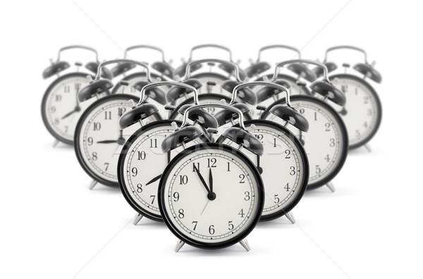 Stock photo: Black old style alarm clocks