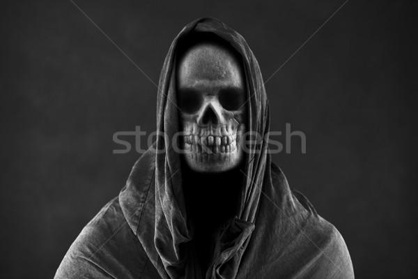 Düster dunkel Schädel tot Tuch Angst Stock foto © sqback
