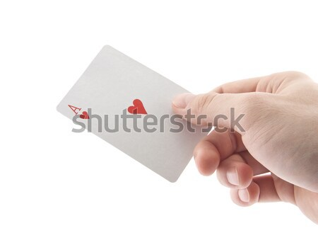 Hand holding ace of hearts Stock photo © sqback