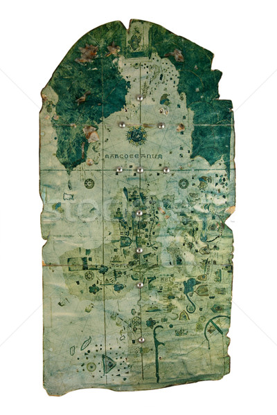 древних Карта сокровищ текстуры Мир документа плана Сток-фото © sqback