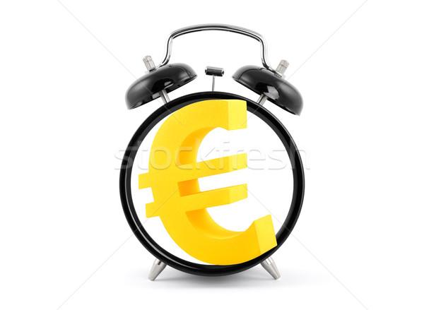 Time is money. Alarm clock with euro symbol. Stock photo © sqback
