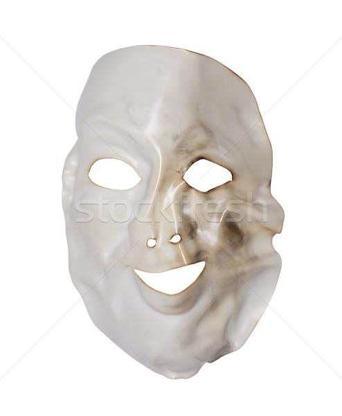 Bianco deformata maschera isolato Foto d'archivio © sqback