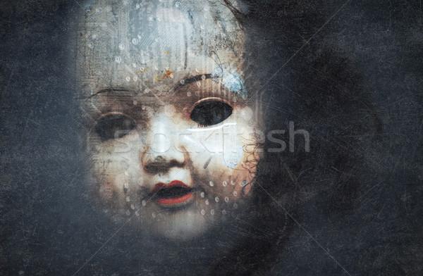 Hátborzongató baba arc stílus technológia tudomány Stock fotó © sqback