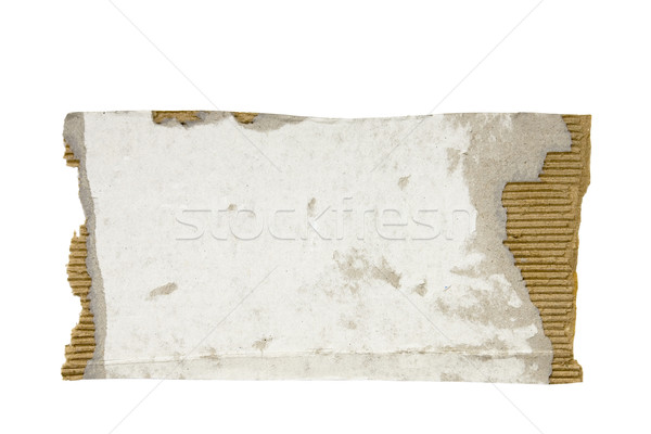 Torn piece of cardboard with clipping path Stock photo © sqback