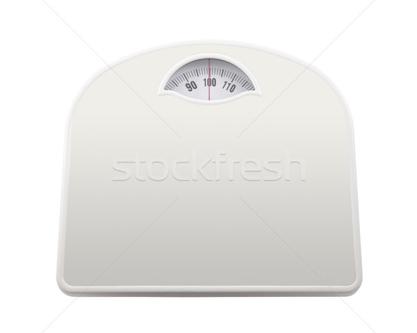 Bathroom scale with clipping path Stock photo © sqback