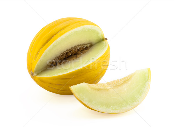 Yellow melon with clipping path Stock photo © sqback