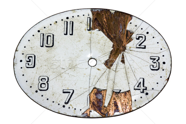 Damaged watch face with clipping path. Stock photo © sqback