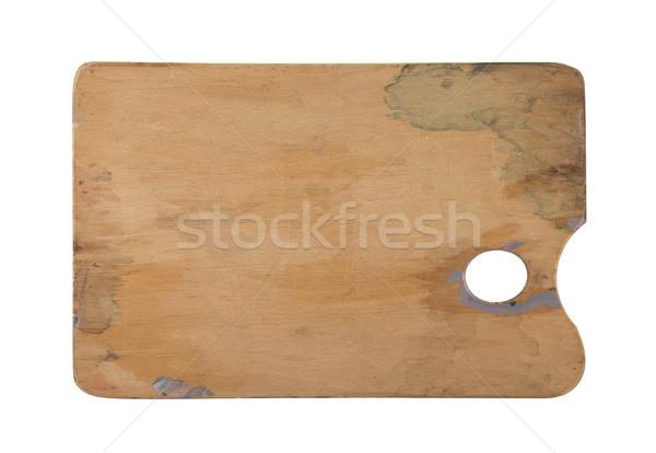 Lege palet geïsoleerd witte kunst Stockfoto © sqback