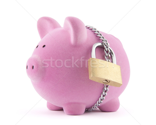 Piggy bank secured with padlock Stock photo © sqback