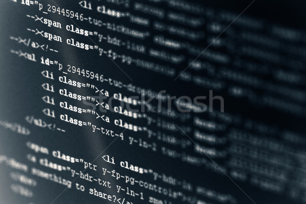 Ordinateur code html internet suivre web Photo stock © sqback