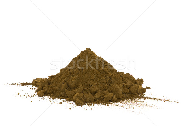 Pile of soil isolated on white Stock photo © sqback