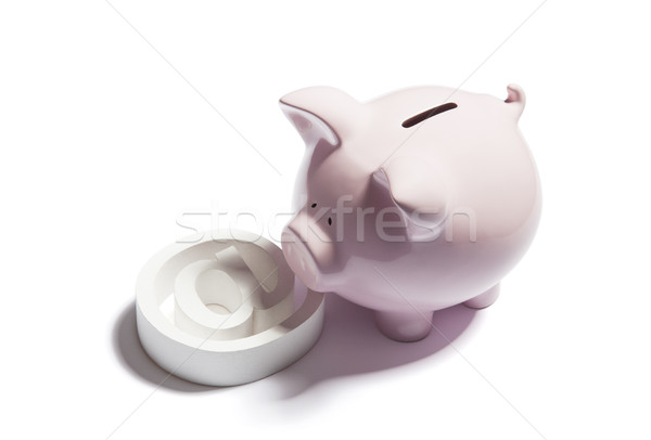 Piggy bank with email symbol  Stock photo © sqback