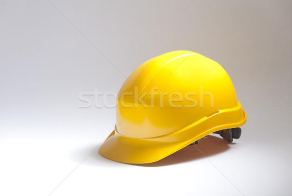 Sarı kask çalışmak endüstriyel şapka stüdyo Stok fotoğraf © sqback