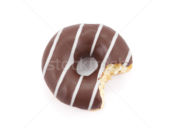 Bitten chocolate donut isolated on white with clipping path Stock photo © sqback