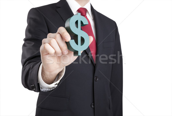 Businessman holding dollar sign with clipping path  Stock photo © sqback