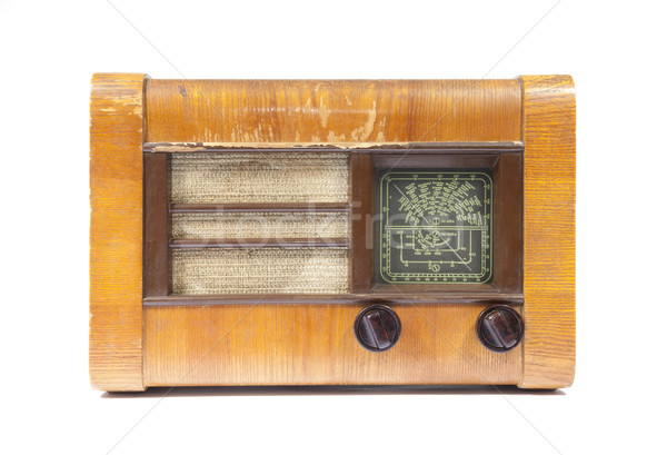Old wooden radio isolated on white Stock photo © sqback