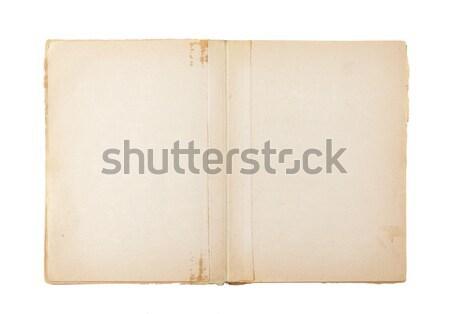 Abierto edad libro aislado blanco cuaderno Foto stock © sqback