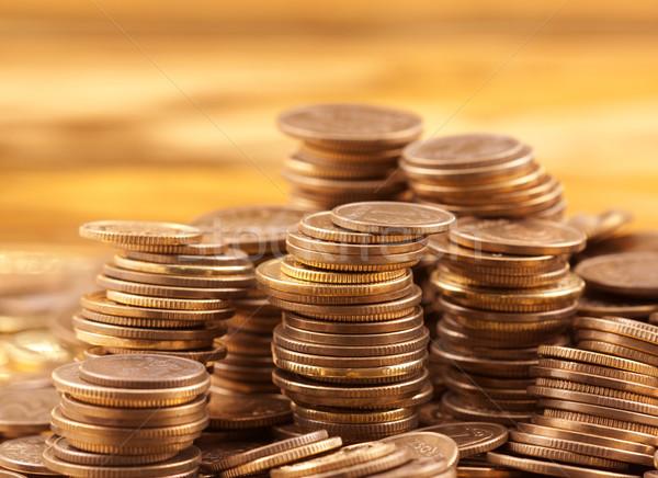 Altın madeni para makro atış para arka plan Stok fotoğraf © sqback