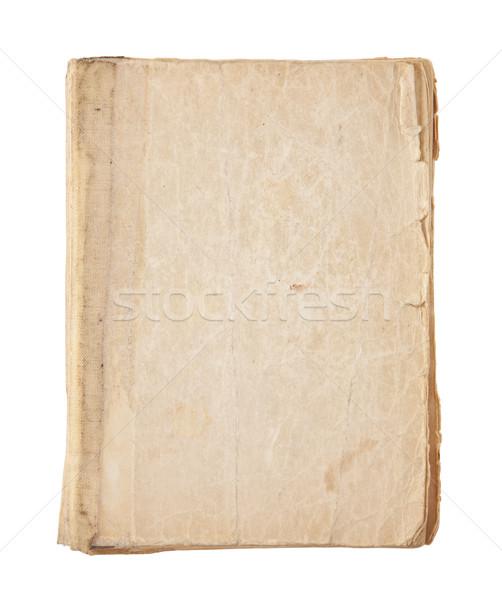 Régi könyv borító vágási körvonal textúra olvas retro Stock fotó © sqback