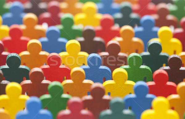 Renkli boyalı grup insanlar kalabalık arkadaşlar grup Stok fotoğraf © sqback