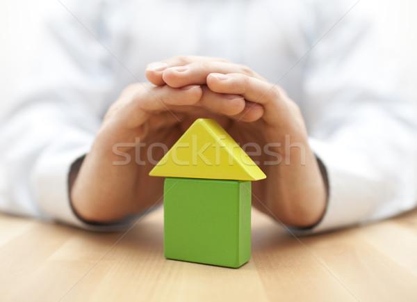 Foto stock: Casa · manos · hombre · construcción · modelo