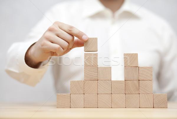 стороны бизнеса развития древесины Бар Сток-фото © sqback