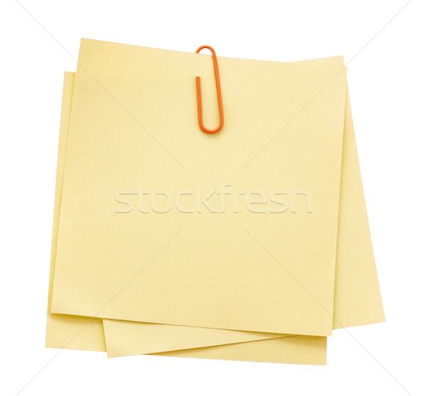 заметка отмечает скрепку сведению документы тень Сток-фото © sqback