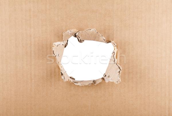 Delik karton beyaz kâğıt doku Stok fotoğraf © sqback