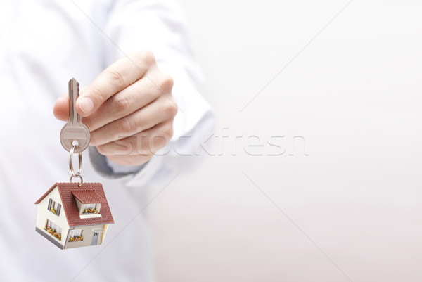 House key in hand  Stock photo © sqback
