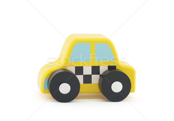 Small wooden taxi car on white background with clipping path  Stock photo © sqback