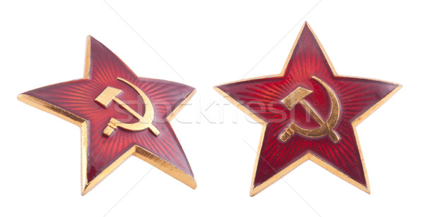 Soviet red star badge with clipping path Stock photo © sqback