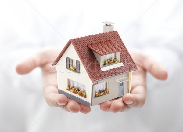 здании человека модель домой рубашку Сток-фото © sqback