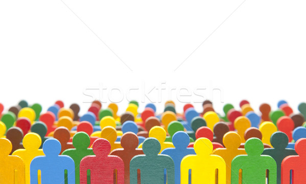 Colorful painted group of people figures  Stock photo © sqback
