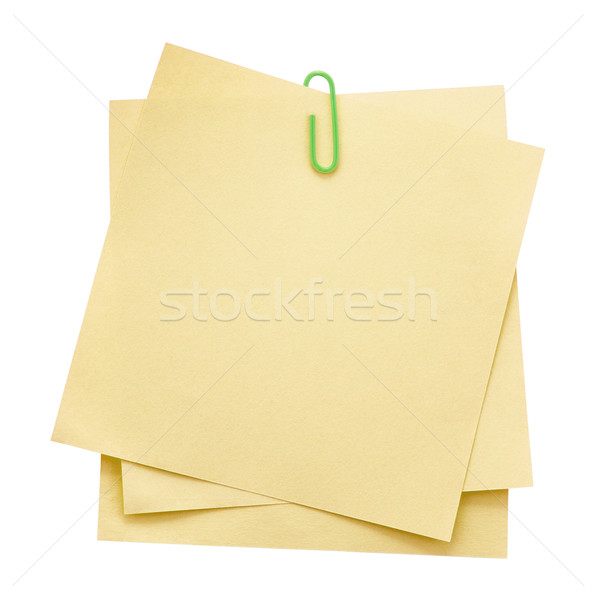 Memo notes with paper clip Stock photo © sqback