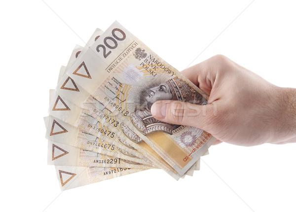 Stock photo: Polish money in hand