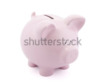 Piggy bank with one Euro cent in slot Stock photo © sqback