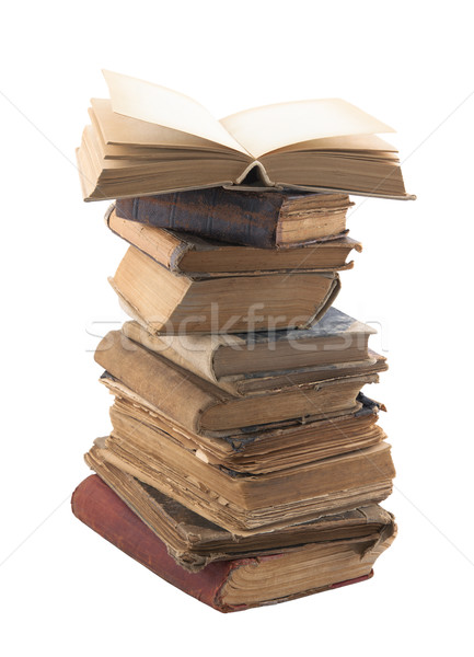 Stack of old books with clipping path Stock photo © sqback