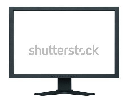Computer flat wide screen isolated on white Stock photo © sqback